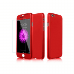 Apple iPhone 7 and 8 360 Silicone Case Red