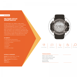 Canyon Military Style Smart Watch