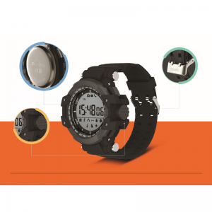 Canyon Military Style Smart Watch Angles