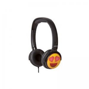 Groov-E EarMoji DJ Style Headphones Heart Eyes Face