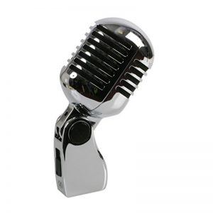 Pulse 50's Style Chrome Microphone