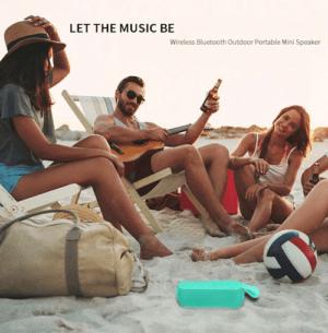Enjoy Portable Bluetooth Speaker on the Beach