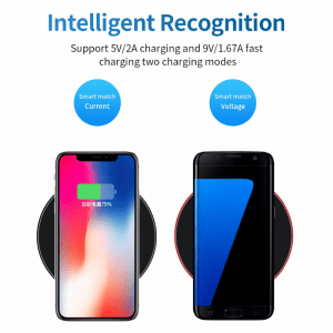 Qi Wireless Fast Charger Side by Side