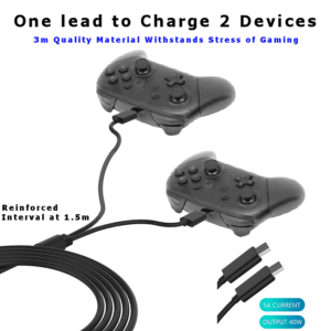 Dual USB-C Charger Lead